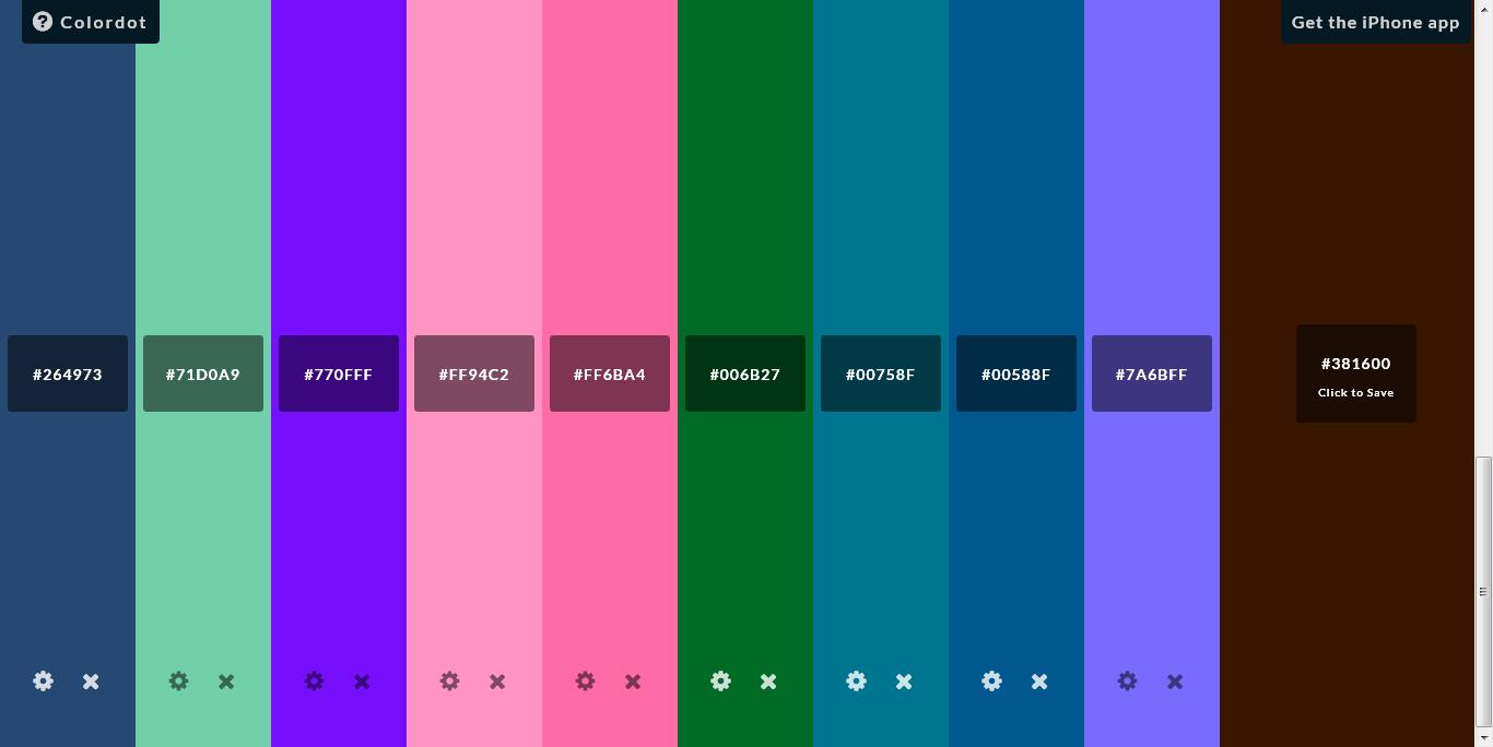 Удобный подбор цвета. Colordot